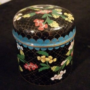 Vintage cloisonne covered container